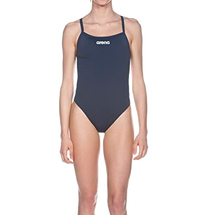 5c66633963 Arena Womens Solid Light Tech Swimsuit - Navy Blue Size 38, Swim ...
