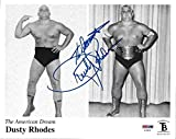 Dusty Rhodes Signed WWE 8x10 Photo COA Picture w/ NWA Belt Autograph WCW - PSA/DNA Certified - Autographed Wrestling Photos