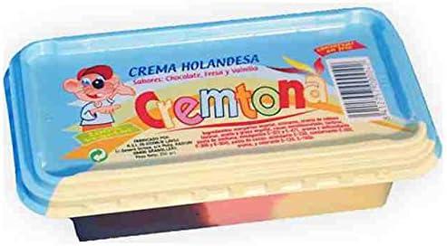Crema Holandesa 3 colores Cremtona. Chocolate, Fresa y Vainilla ...