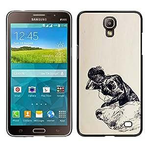 LECELL--Funda protectora / Cubierta / Piel For Samsung Galaxy Mega 2 -- pobre vida --
