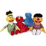 BARIO Sésamo Felpa Figuras Juego de 4 Bert, Elmo , Ernie, MONSTRUO DE LAS GALLETAS 21cm