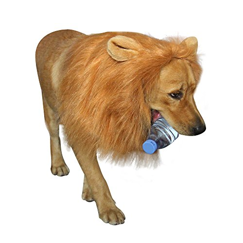 royalwise Lion Mane Costumes Dog Wig Lion Hair for Large Dogs Soft Touch Comfortable Fancy Hair Pet  - http://coolthings.us