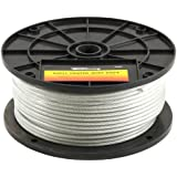 Forney 70452 Wire Rope, Vinyl Coated Aircraft Cable, 250-Feet-by-1/8-Inch thru 3/16-Inch