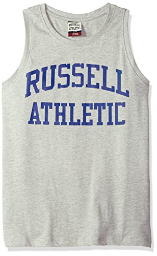 Russell Athletic Heritage Men's Iconic Arch Tank Top, Grey Marl, XL (Top Tank Athletic Mens Russell)