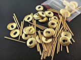 OutletBestSelling Oblong Brass Hand Washers and Pins for Antique Clocks set of 50 each