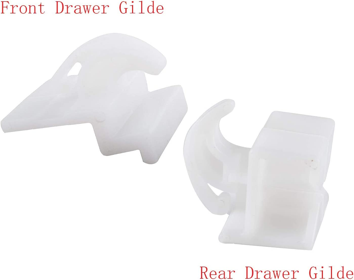 2pc and Rear Drawer Glide 3051163 2pc for Frigidaire Kenmore Wadoy Refrigerator Front Drawer Glide 3051162