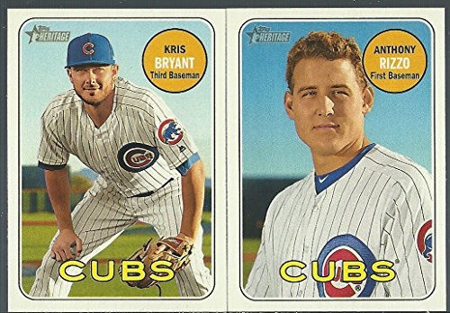 2018 Topps Checklist - 2018 Topps Heritage Chicago Cubs Base Team Set 16 Cards Jake Arrieta Anthony Rizzo Kris Bryant