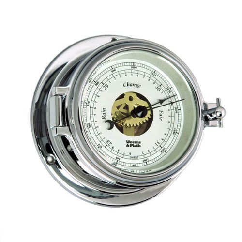 Weems and Plath Endurance II 105 Open Dial Barometer, Chrome
