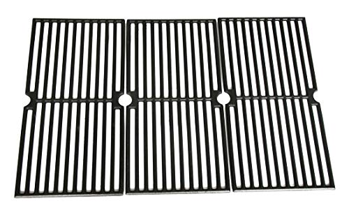 Hongso PCD103 Universal Gas Grill Grate Cast Iron Cooking Grid Replacement for Brinkmann 810-7490-F, 810-8410-S, 8107490F, 8108410S, 8107490-F, 8108410-S, Charmglow 810-8410-F, Sold as a Set of ()