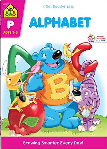 School Zone - Alphabet Workbook - 64 Pages, Ages 3 to 5, Alphabet, Letters, Uppercase and Lowercase, Tracing, Fine Motor Skills, and More (School Zone Get Ready!TM Book Series) (A Get Ready! Book)