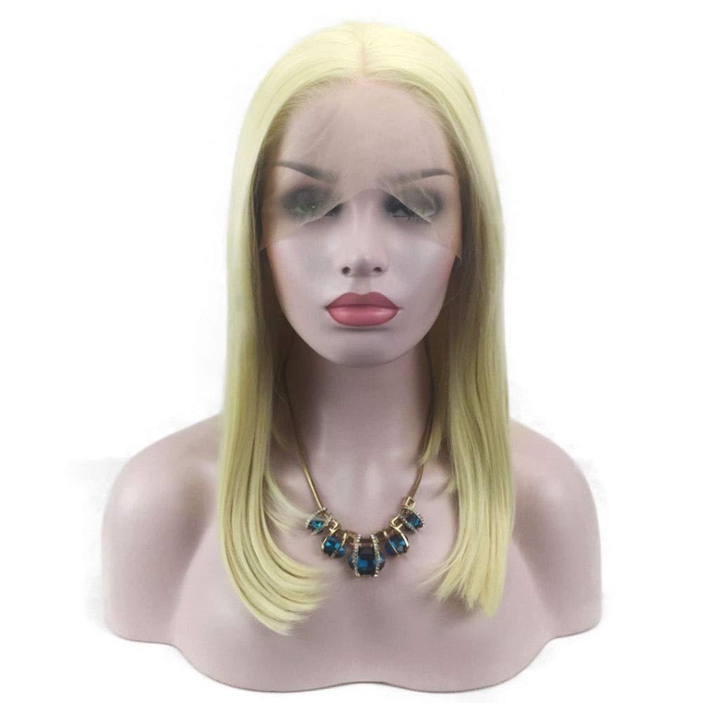Perücken YIGEYI Blonde Lange Gerade Synthetische Natürliche Weiche HitzeBesteändige Hohe Qualität Frauen Locken Cosplay Halloween Party Haarteile