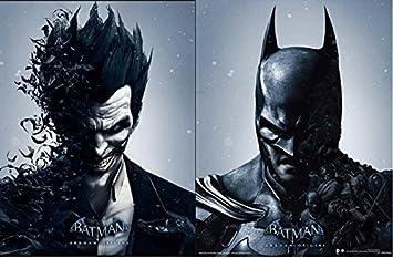 Batman arkham origins batman and joker 3d lenticular poster batman arkham origins batman and joker 3d lenticular poster changes between the 2 characters amazon kitchen home voltagebd Images
