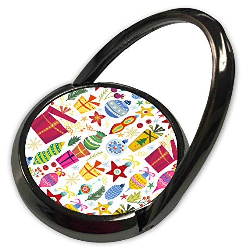 3dRose Anne Marie Baugh - Christmas - Cute Fiesta and Ornaments Pattern - Phone Ring (phr_289301_1)