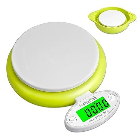 5 kg/1g LCD electrónico digital báscula de cocina, marlamall alimentos peso escala de