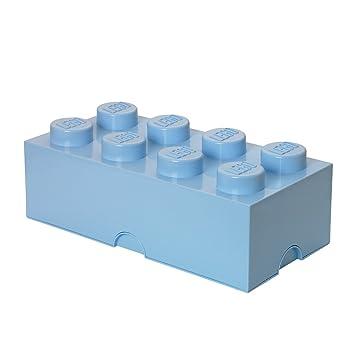 Lego Lizenzkollektion 40041736 Stapelbare Aufbewahrungsbox, 8 Noppe,  Hellblau