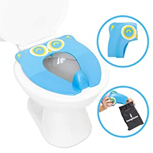 Portable Potty Training Toilet Seat for Boys and Girls - Ideal for Travel and Home - Foldable and Lightweight Potty Chair for Baby, Toddler and Kids