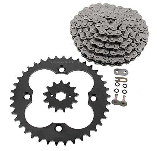 1993-2008 Fits Honda Sportrax 300EX TRX300EX O-Ring Chain & Black Sprockets 13/38 ()