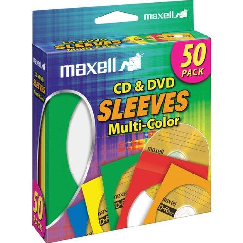 Maxell Cd/Dvd Sleeves Asst 50 Pk Cd-401 (Maxell Cd / Dvd Sleeves)