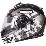 FXR Fuel Modular Evo Helmet W/Elec Shield (Black/Charcoal/White, X-Large)