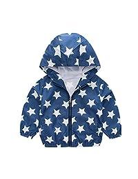 Boys Girls Jacket Hooded Trench Car Zip Lightweight Kids rain Coat Windbreaker Outdoor