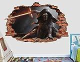 Star Wars Kylo Ren 3D Sticker Wall Decal Smashed Vinyl Decor Mural Movie - Broken Wall - 3D Designs - AL110 (Giant (Wide 50'' x 30'' Height))