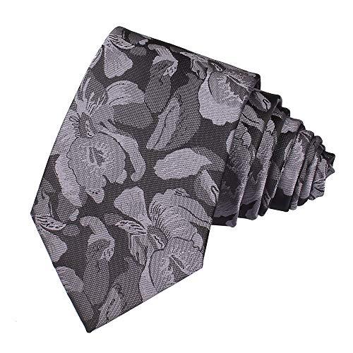 - Mens Narrow Grey Black Silk Ties Adult Formal Sunny Self Modern Necktie Dad Gift