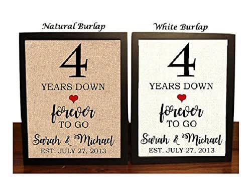 Gifts For 4th Wedding Anniversary: Amazon.com: 4th Anniversary Burlap Gift