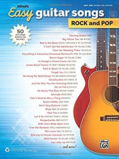Amazon Com Alfred S Easy Guitar Songs Classic Rock 50 Hits Of