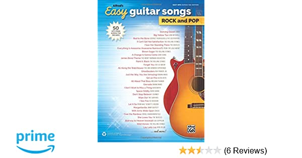 Amazon com: Alfred's Easy Guitar Songs -- Rock & Pop: 50