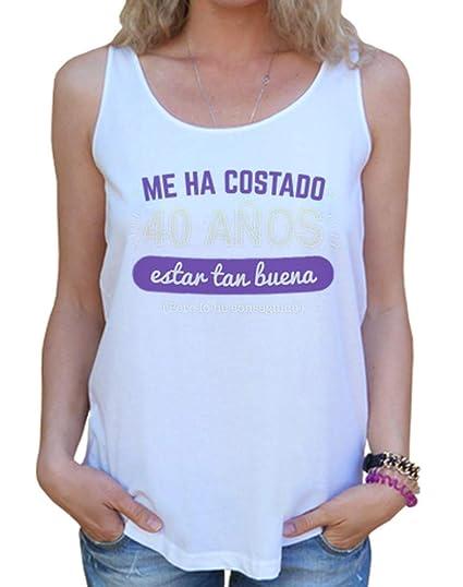 latostadora Camiseta 40 Años para Estar Tan Buena, 1978 - Camiseta Mujer Tirantes Anchos & Loose Fit