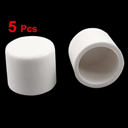 5 Pcs 20mm water pipe fittings pvc slip end caps covers white US