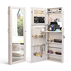 Amazon.com: TWING Jewelry Cabinet Wall Door Mounted ...