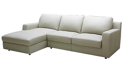 Amazon Com J M Furniture Lauren Leather Left Facing Sectional Sofa