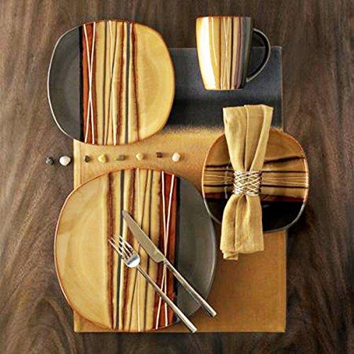 Hometrends Bazaar 16pc Dinnerware Set, Brown