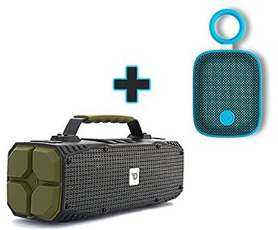 30W Portable Wireless Speaker System with aptX 4.0 Bluetooth, Car Jump Starter, USB Power Bank, LED Flash Light by Dreamwave Audio SURVIVOR + BONUS Dreamwave Blue BUBBLE POD Mini Speaker