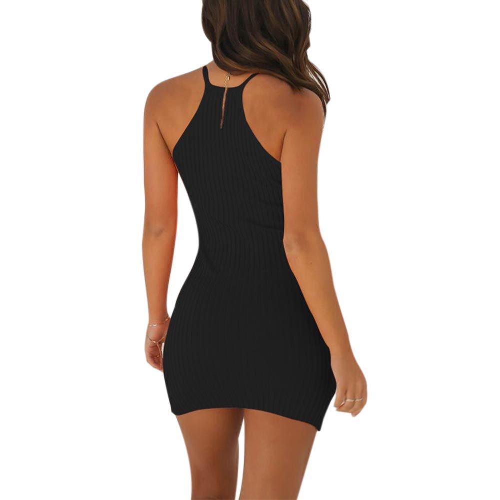 006331d013 EFINNY Women Summer Slim Bodycon Dress Sexy Clubwear Evening Party Cocktail Mini  Dresses  Amazon.co.uk  Clothing