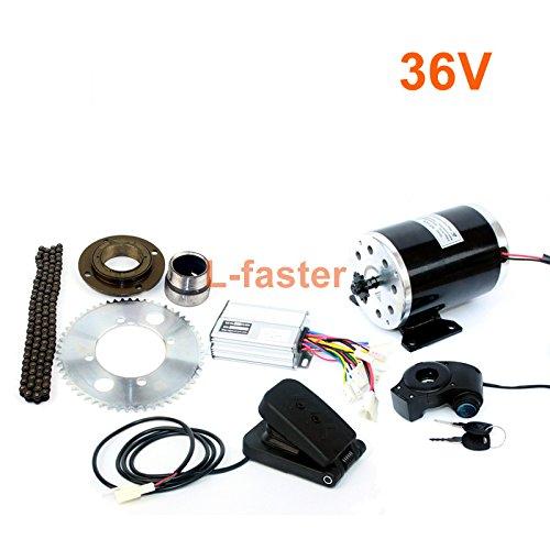 1000ワット電動オートバイモーターキット使用25 25hチェーンドライブ高速電動スクーター交換電気ゴーカート変換キット [並行輸入品] 36V pedal kit