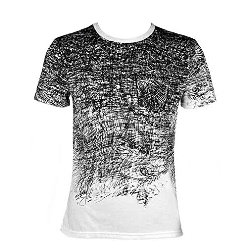 HUGG New Man's Tshirt Summer Clothing Tee Cotton Short Sleeve Camisa Masculina Male T Shirt White XL