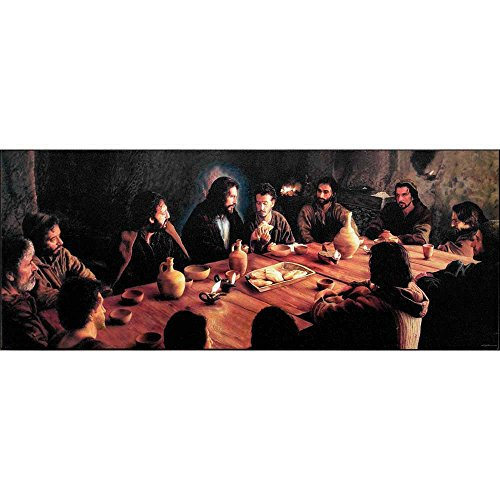 Dicksons The Last Supper With Jesus Breaking Bread 8 x 19 Wood Wall Sign Plaque