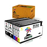 950xl 951xl Black Color Ink Cartridge Combo Pack High Yield Palmtree Replacement for HP 950 951 Compatible withHP Officejet Pro 8630 8625 8620 8600 8610 (2Black Cyan Magenta Yellow)