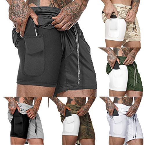 Men's Shorts for Clearence Training Running Short Pants Quick-Drying Breathable Sports Fitness Pants with Pockets Inside