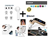 CASREEN Samsung Galaxy Core I8260 COMPATIBLE G7 Bluetooth FM Transmitter With USB Flash Carger / TF Music Player Bluetooth Car kit USB Car charger With AUX Point By Ampalhouse (Assorted Colour)