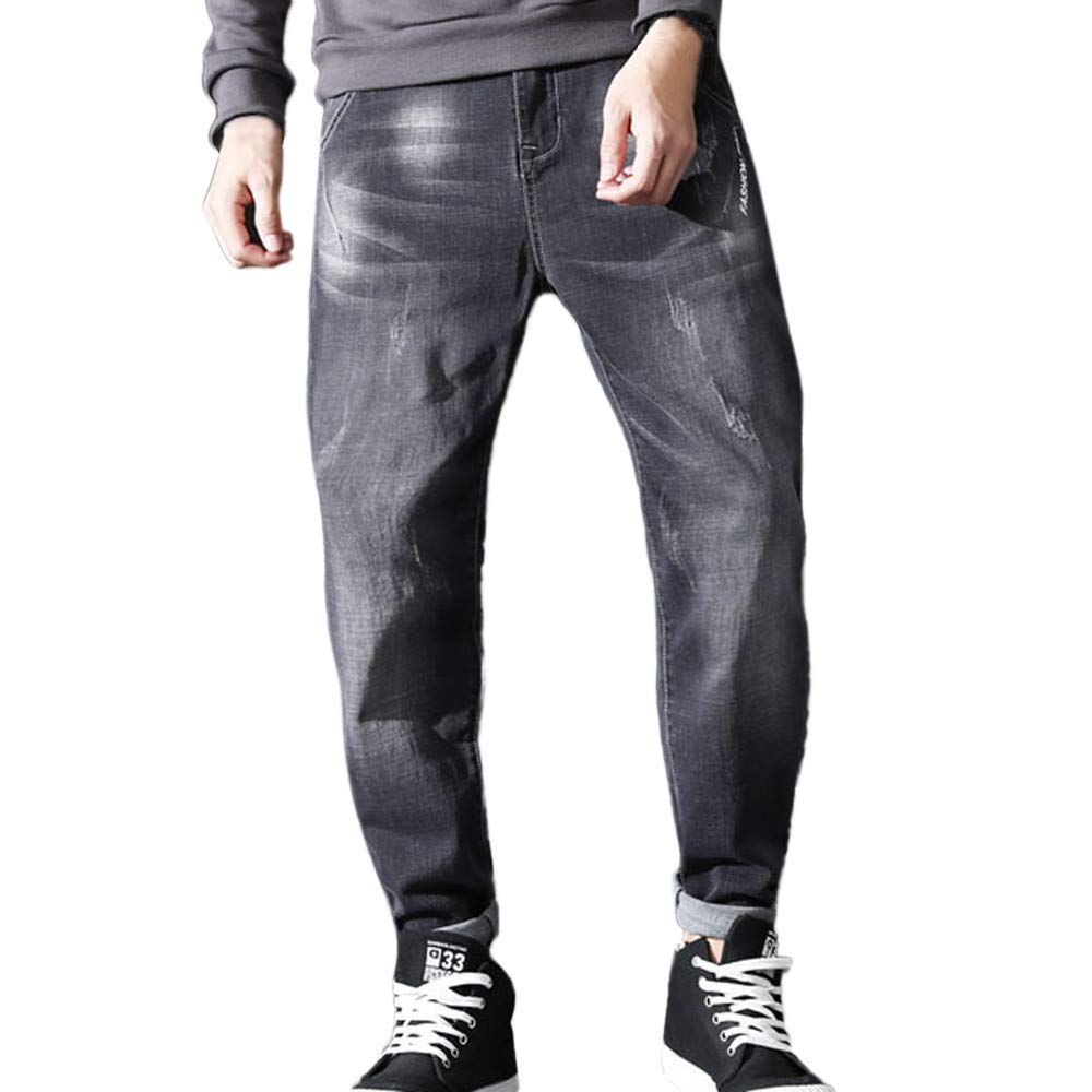 Winter Men Sweatpants Hot Sale Fashion Harlan Alphabet Stretch Feet Pencil Casual Jeans