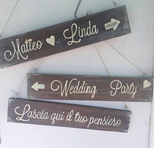 Musica Per Matrimonio Country Chic : Cartello matrimonio in legno fatto a mano stile country chic: amazon