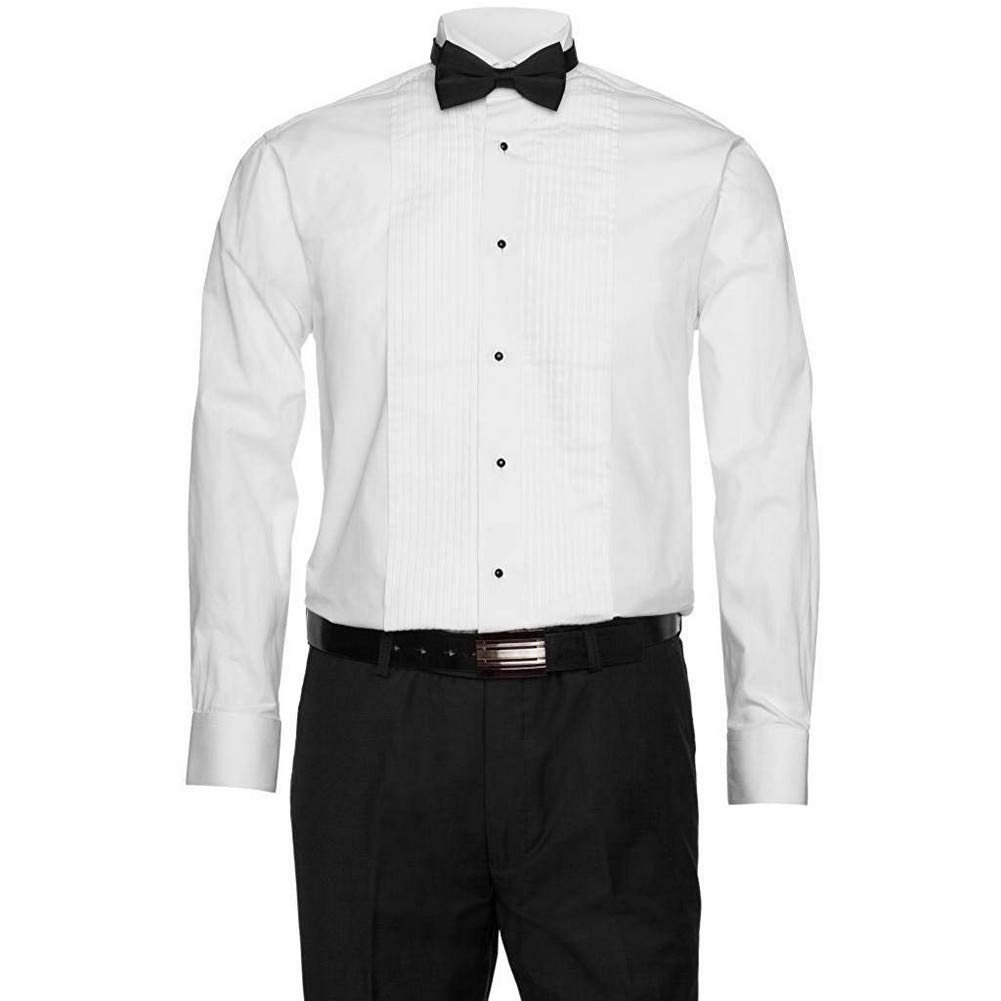 Gentlemens Collection 1941 Men's Wing Tip Tuxedo Shirt - White - 16 6-7 by Gentlemens Collection