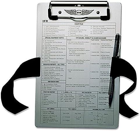 ASA-vFR kneeboard kniebrett pilotekniebrett: Amazon.es: Oficina y papelería