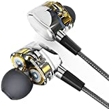 Lwsengme ErgoFit In-Ear Earbuds Headphones with Mic/Controller,LW119 High Fidelity Extra Bass Earbuds