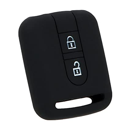 Holdream - Carcasa para Llave de Coche para Nissan Qashqai (Silicona, 2 Botones), Color Negro