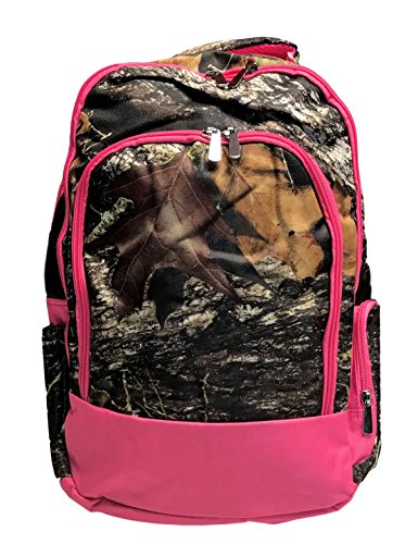 Wholesale Boutique Reinforced Design Water Resistant Backpack (Personalized Camo with Pink Trim)