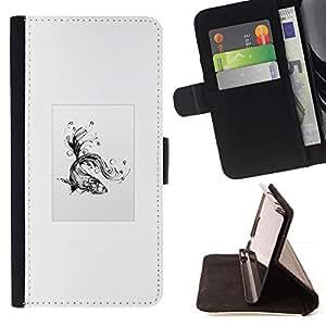 Momo Phone Case / Flip Funda de Cuero Case Cover - Goldfish tribal - Samsung Galaxy S6 Active G890A